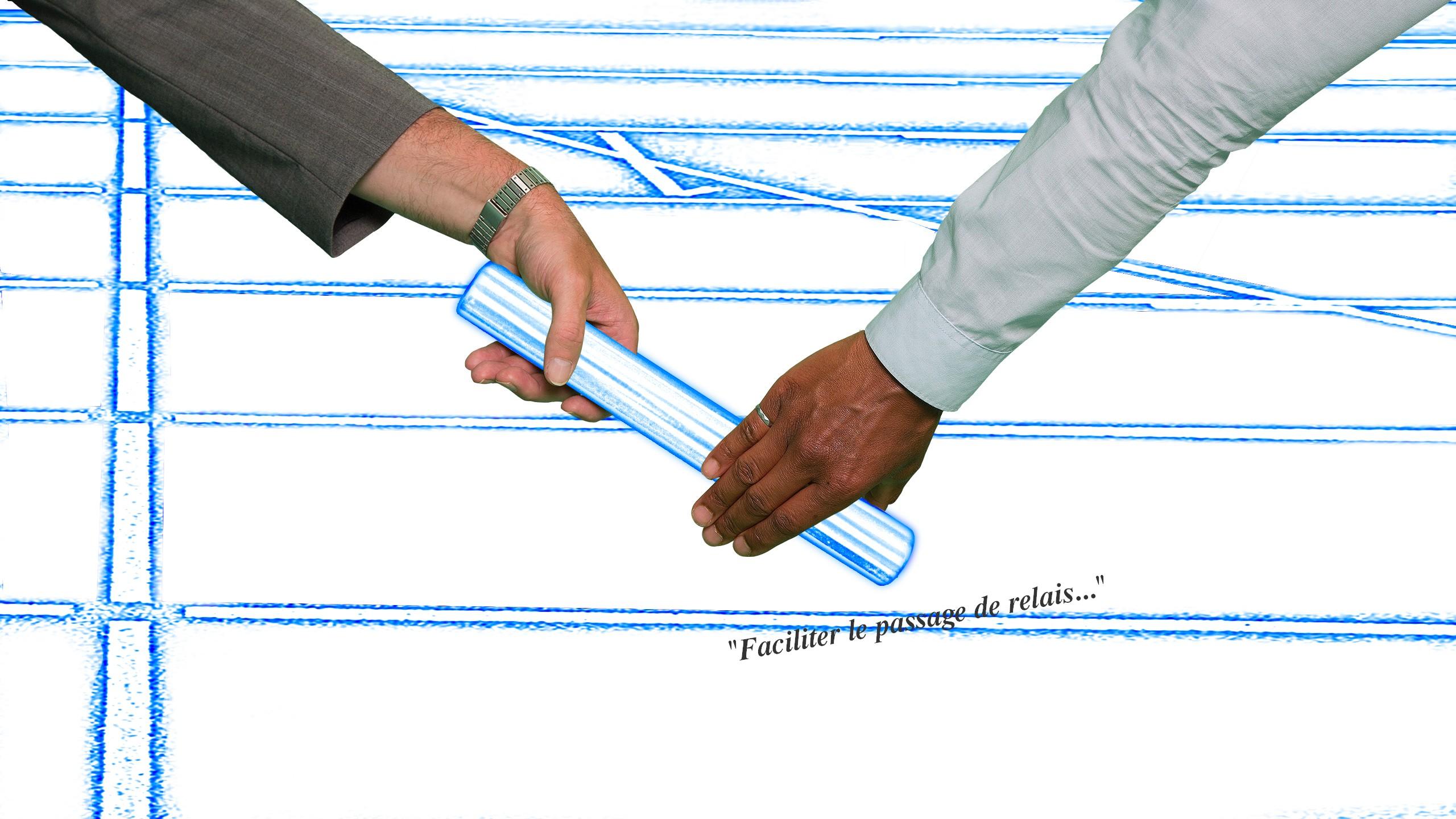 Transmission du témoin entre deux acteurs du projet
