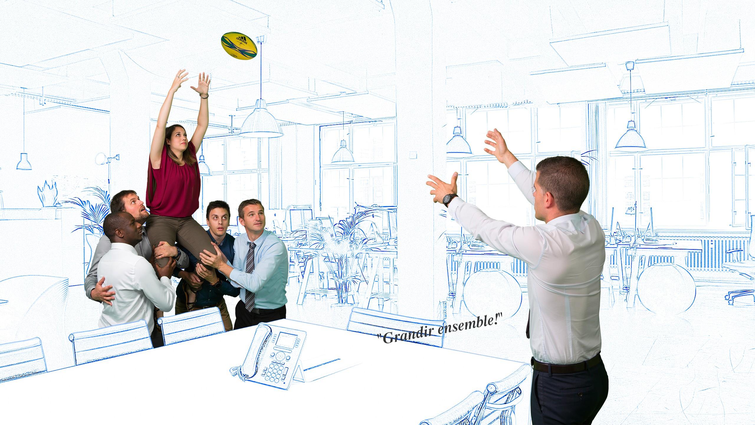 La politiqur RH de IM projet vous fait grandir comme vos équipier vous élèvent pour une touche au rugby